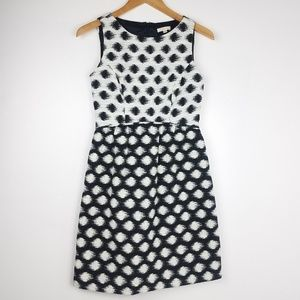 Shoshanna | Black & White Fit and Flare Dot Dress